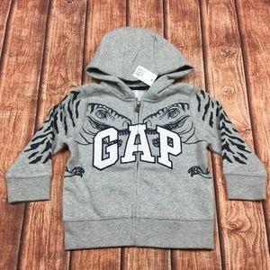 Baby Gap Boys Dinosaur ZIp-Up Hoodie Sweatshirt